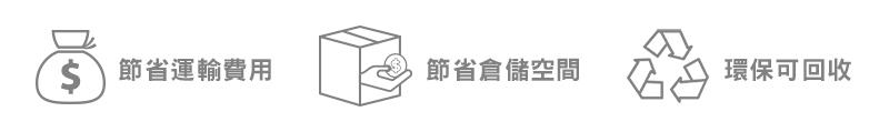 AirSaver優勢-省錢、省空間、可回收