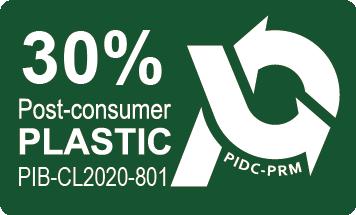 緩衝包材含有30%環保 再生料 粒認證標誌