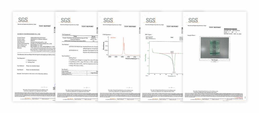 SGS驗證 30%再生料符合證明